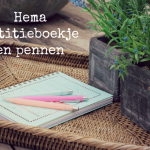 New in: Hema notitieboekje en pennen